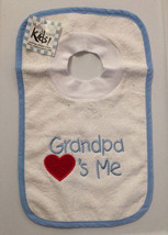 Grandpa Loves Me Pullover Bib With Washcloth - $12.00