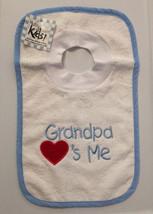 Grandpa Loves Me Pullover Bib With Washcloth - $12.00