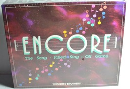 Encore Board Game Vintage Parker Brothers The Song Filled Sing Off 1989 ... - $22.24