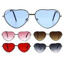 Girls Kids Size Metal Rim Heart Shape Valentine Sunglasses - $9.95