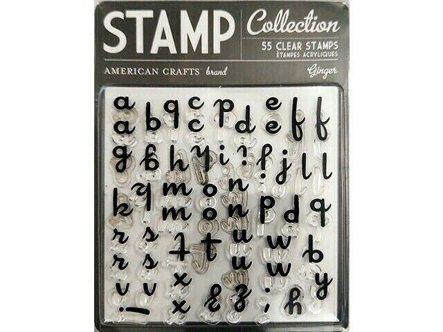 American Crafts Ginger Clear Alphabet Stamp Set #59135