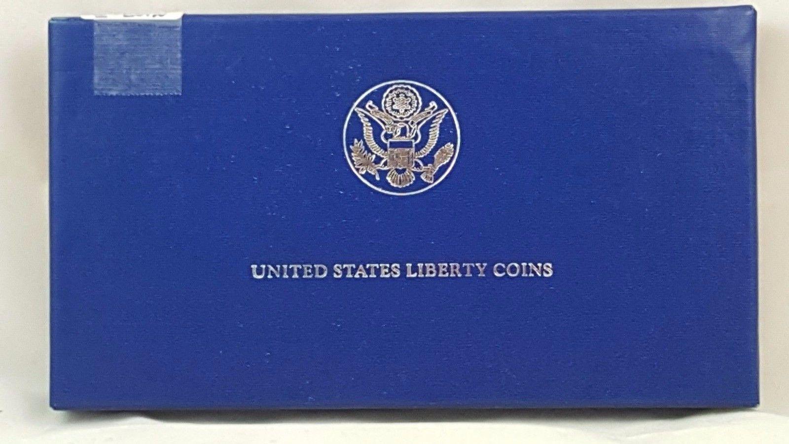 1986 100th Anniversary Statue of Liberty Silver PR 2-Coin Set $1/50C Box & COA