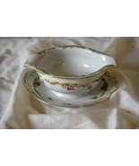 Aladdin American Rose Gravy Boat With Attached Underplate - $18.89