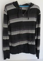 Mens BillABong Black with Stripes Hoodie Sweat Shirt Size M - $9.49