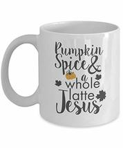 An item in the Pottery & Glass category: Halloween Mug Pumpkin Spice Latte Jesus Coffee Cup Novelty Gift for Office Party