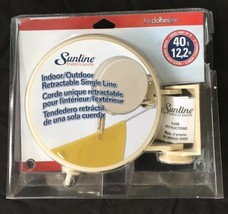 Sunline 40 Ft Single Line Retractable indoor outdoor Clothesline - $17.83