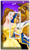 DISNEY BELL BEAUTY AND THE BEAST DANCING SINGLE GFI LIGHT SWITCH PLATE G... - $9.99