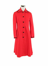 Orange black cotton blend long sleeve stretch vintage coat 8 - $89.99