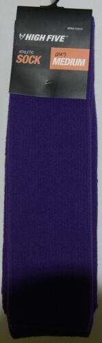 High Five Athletic Soccer Sock 24 Inch Medium 328030 Purple