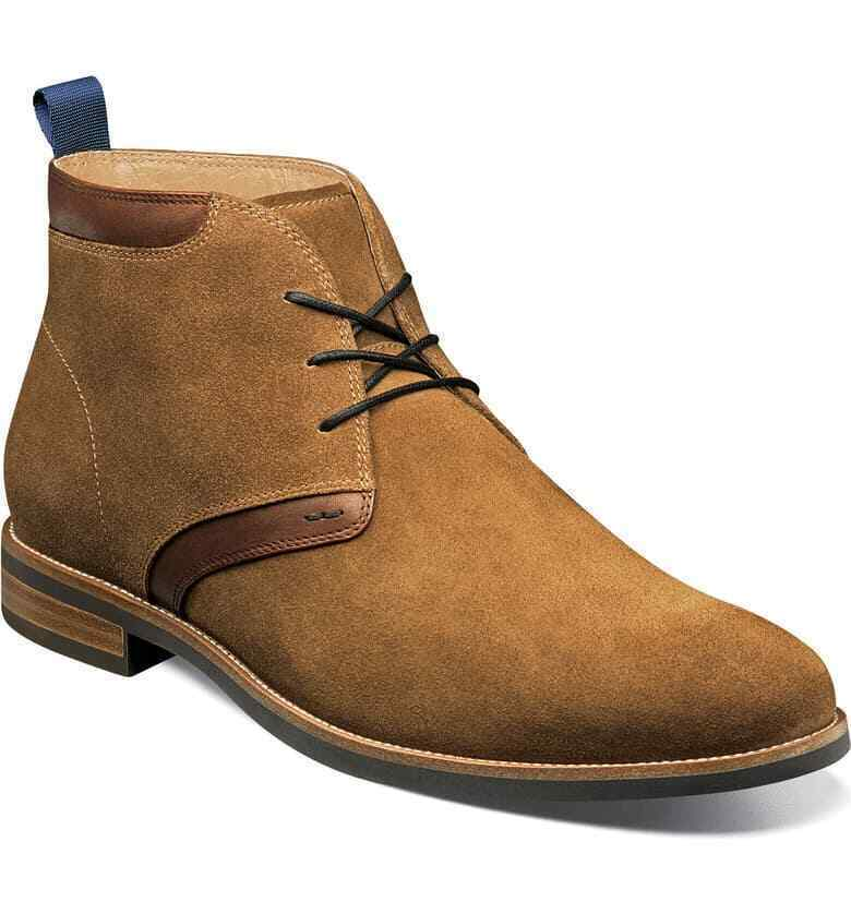 Handmade Men's Brown Suede Chukka Lace Up Boots