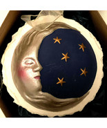 Handcast Paper Ornament Silvery Moon 1995 Hill Designs R1 New In Box - €25,41 EUR