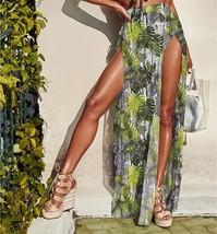 New green floral beachwear summer set bikini skirt women beach cover up ... - $29.00