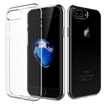 iPhone 7/8 Plus Clear Case TPU Rubber Transparent Silicone Shockproof Cl... - $5.66