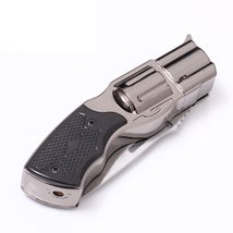 Folding Knife Windproof Refillable Butane Gas Trip Jet Flame Cigarette Lighter - image 4