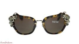 Miu Miu Irregular Sunglasses MU03SS 7S08C1 Light Havana/Brown Lens 51mm - $251.23