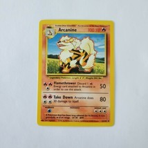 Pokemon Base Set 1999 Arcanine Card LP 23/102 TCG Trading Card Game Unlimited - $2.99