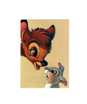 "POSTCARD-""BAMBI AND THUMPER""- THE ART OF FRIENDSHIP-FIRST DAY OF ISSUE  ... - $1.96"