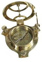 Sundial Compass - Solid Brass Sun Dial (Sundial) Made in India. - $23.36