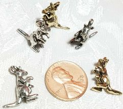 MOTHER KANGAROO AND JOEY FINE PEWTER PENDANT CHARM image 3