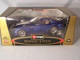 Dodge Viper GTS Coupe 1996 1:18 scale diecast Burago Bburago Gold Collection - $45.08