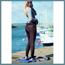 Horseware Ladies Nina Corded Knee Patch Breeches Chocolate size 24 image 1