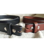 """Handmade Amish Leather Belt for Men or Women 1 1/2"""" width and NO Buckle - $37.00"""
