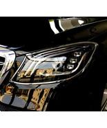 Mercedes S Class W222 Chrome Headlight Trim Bezels by Luxury Trims 2018-... - $148.49
