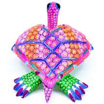"Handmade Alebrijes Oaxacan Copal Wood Carving Painted Sea Turtle 6.5"" Figurine image 6"