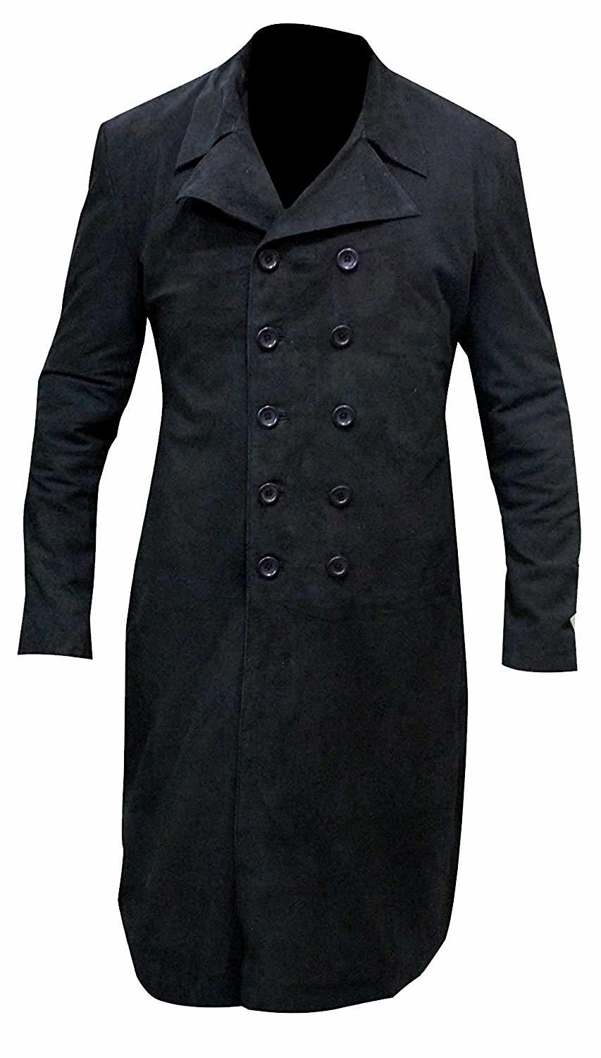 Tom hiddleston crimson peak cotton black coat