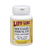 Docusate Sodium USP, 250 mg, 100 Softgels by Natures Blend - $6.80