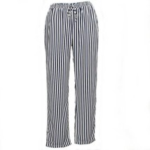 RALPH LAUREN Navy Pearl Stripe Drawstring Woven Crop Pants 20W Blue NEW - $59.99