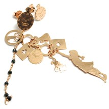 Drop Earrings Silver 925, Alice, Cards, Rabbit, Cat, Key, le Favole image 2