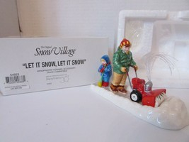 DEPT 56 54923 LET IT SNOW, LET IS SNOW VILLAGE ACCESSORY  D1 - $16.61