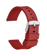 WOCCI 14mm 18mm 20mm 22mm 24mm Sport Watch Band Silicone Waterproof Red ... - $16.89