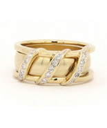 Custom 10k and 14k Yellow Gold Band with .06 ctw Diamonds Size 6.5 - $379.00