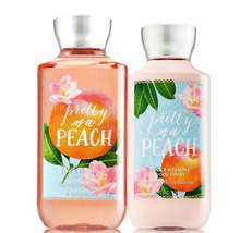 Bath & Body Works Pretty As A Peach Body Lotion + Shower Gel Duo Set - $26.41