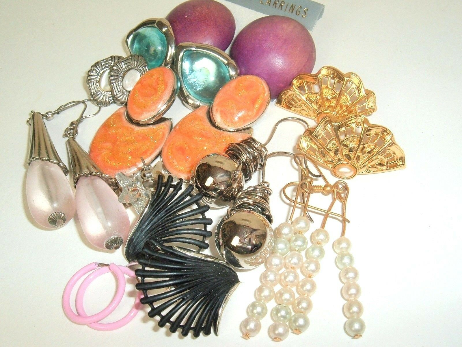 Primary image for Mod Mix Vintage Earring lot pierced 70/80/90's bohemian Boho post #G-18