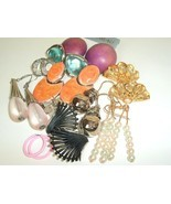 Mod Mix Vintage Earring lot pierced 70/80/90's bohemian Boho post #G-18 - $14.80