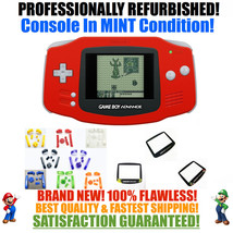 *NEW SCREEN* Nintendo Game Boy Advance GBA Red System CUSTOM MINT NEW - $54.40+