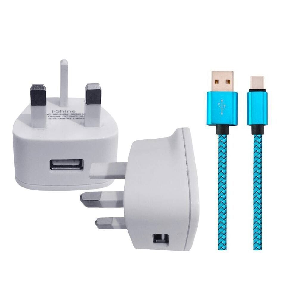 Huawei P9 P10 Honor  REPLACEMENT WALL CHARGER & USB 3.1 DATA SYNC LEAD - $9.34