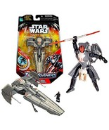 Year 2006 Star Wars Transformer Series 7 Inch Tall Action Figure - Darth... - $84.99