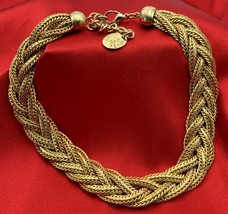 """Erwin Pearl Gold Tone EP Choker Necklace Statement Piece 17"""" 20-901 - $37.95"""