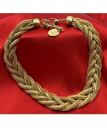 "Erwin Pearl Gold Tone EP Choker Necklace Statement Piece 17"" 20-901 - $37.95"