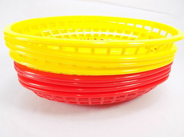 8 French Fries Fast Food Plastic Basket Sandwich Hot Dog Hamburger Tray ... - $19.79