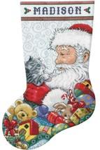 Design Works Santa & Kitten Christmas Holiday Cross Stitch Stocking Kit ... - $29.95