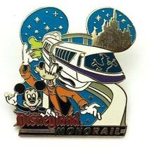 Disneyland Monorail Mickey Goofy Donald Disney Ear Shape Pin  - $24.74