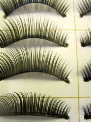 Primary image for JOVANA 10 Pair Natural Long Black False Eyelashes