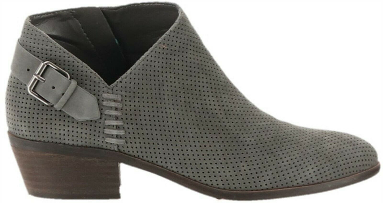 Vince Camuto Suede Booties Buckle Parveen Greystone 5.5M NEW A311049