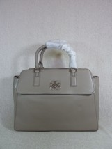 NWT Tory Burch French Gray Pebbled Leather Mercer Dome Satchel $535 - $493.02