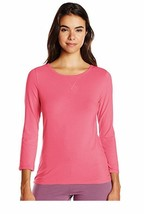 Calvin Klein Comfort Cotton 3/4 Sleeve Top in Crab Apple size XL (NWT $50) - $14.84